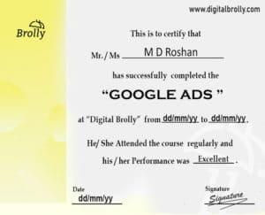 Google Ads Certification Sample