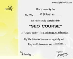 SEO Training in Hyderabad Certification