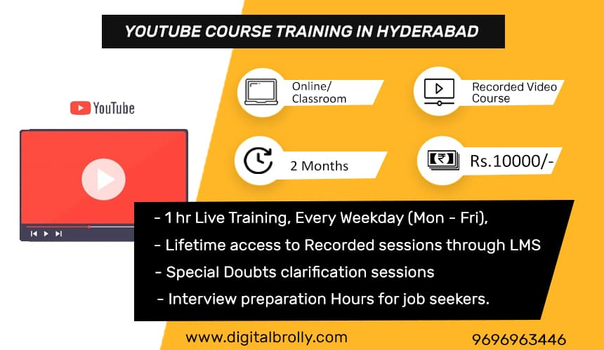 youtube course in hyderabad