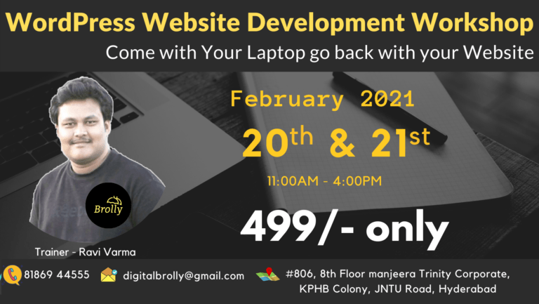 WordPress Website Development Workshop in Hyderabad