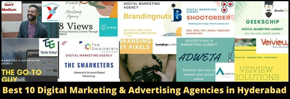 Best 10 Digital Marketing and Advertising Agencies in Hyderabad