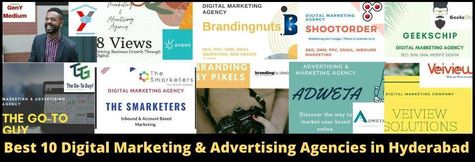 Best 10 Digital Marketing and Advertising Agencies in Hyderabad
